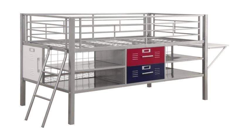 Dhp Furniture Junior Twin Silver Locker Bed