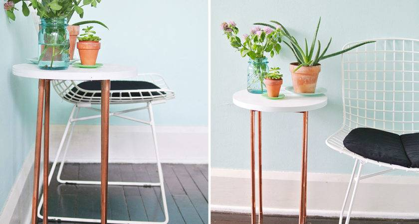 Diy Copper Pipe Side Table Perfect Small Spaces Brit
