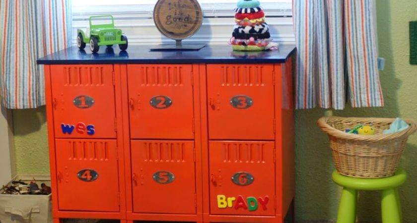 Diy Lockers Kids Room Home Pinterest
