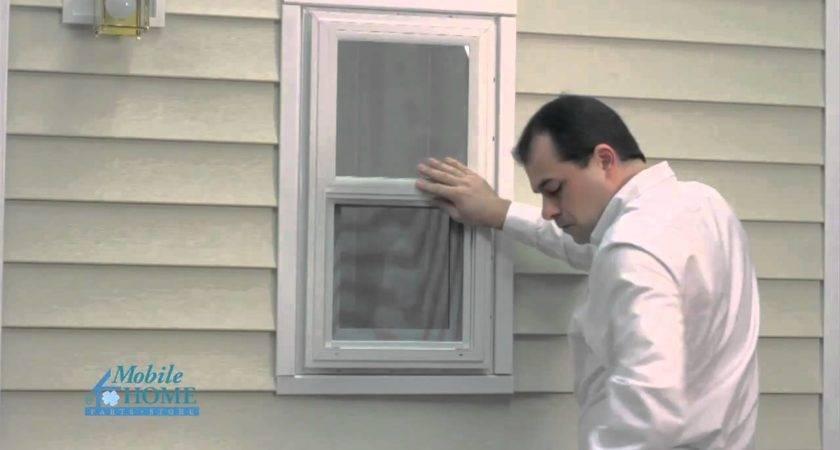 Diy Vinyl Exterior Window Installation Mobile Home Parts
