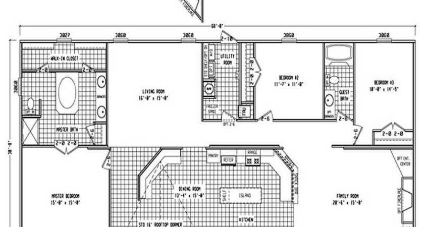 Double Wide Floor Plans Bedroom Bath Bedrooms