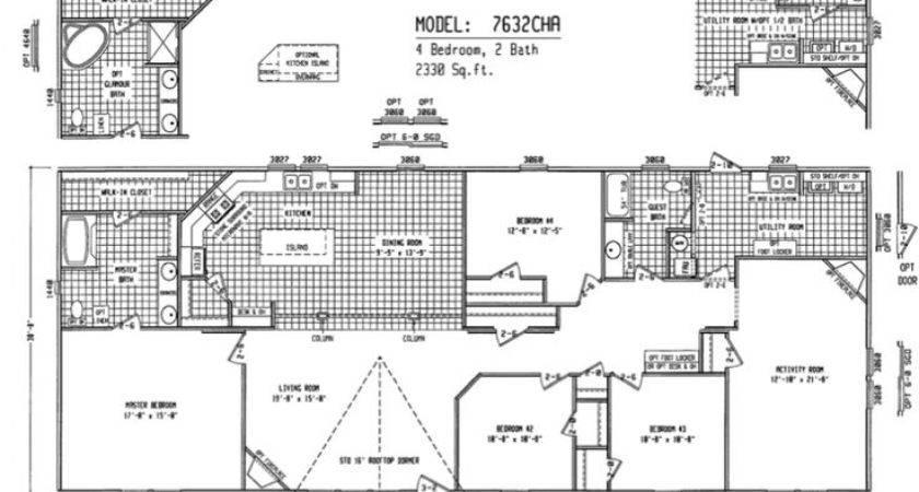Double Wide Floor Plans Bedroom Cha Welcome