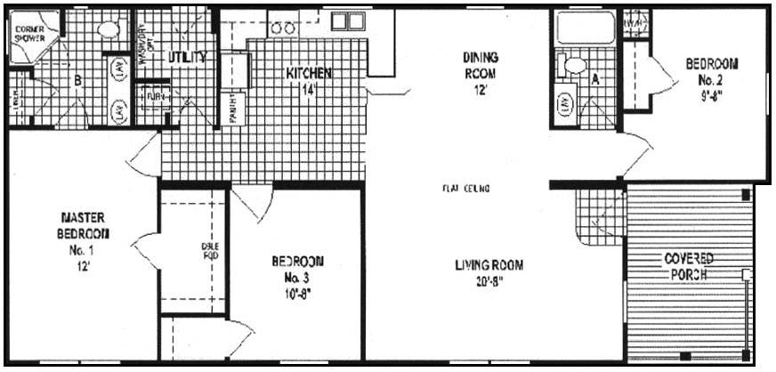 Double Wide Floor Plans Mobile Home