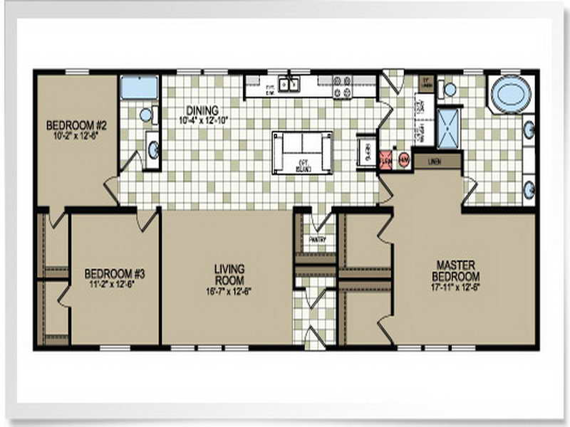 Double Wide Mobile Home Floor Plans Modern Modular