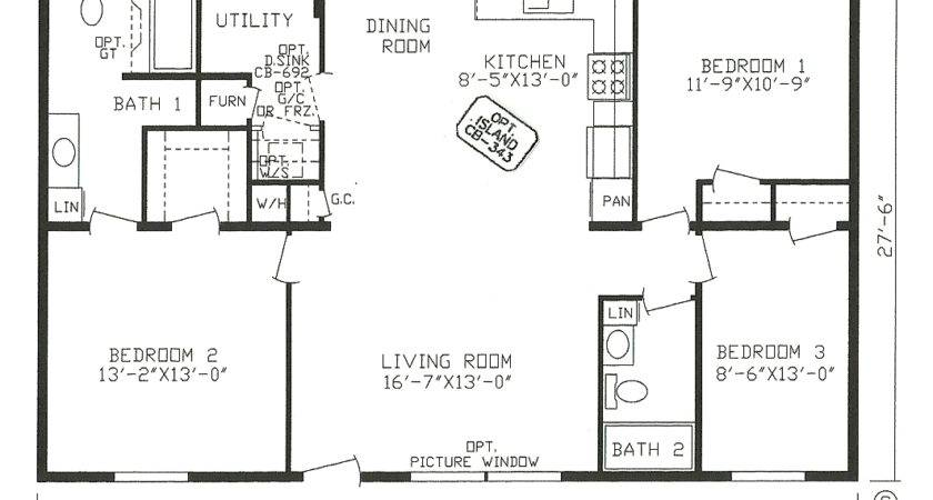 Double Wide Open Floor Plans Concept
