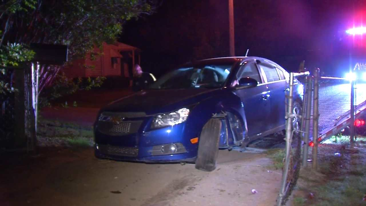 Driver Arrested Dui After Tulsa Chase Crash Newson