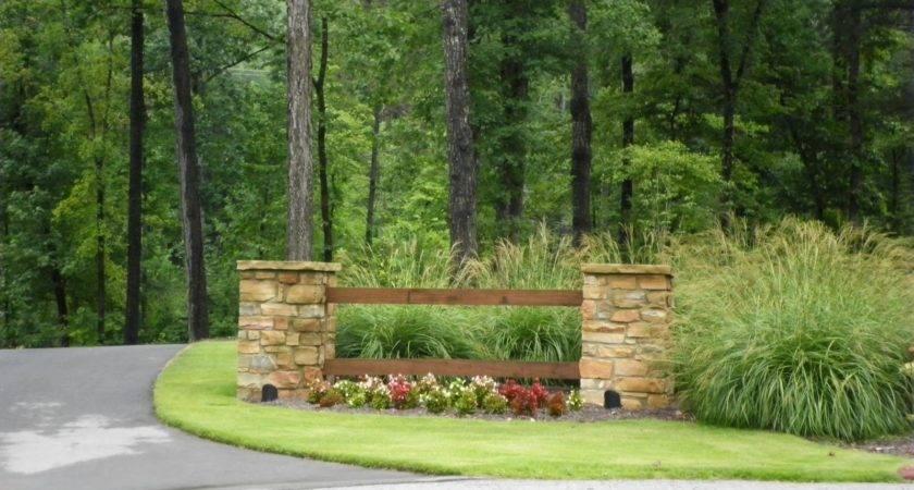 Driveway Landscaping Larson Entrance