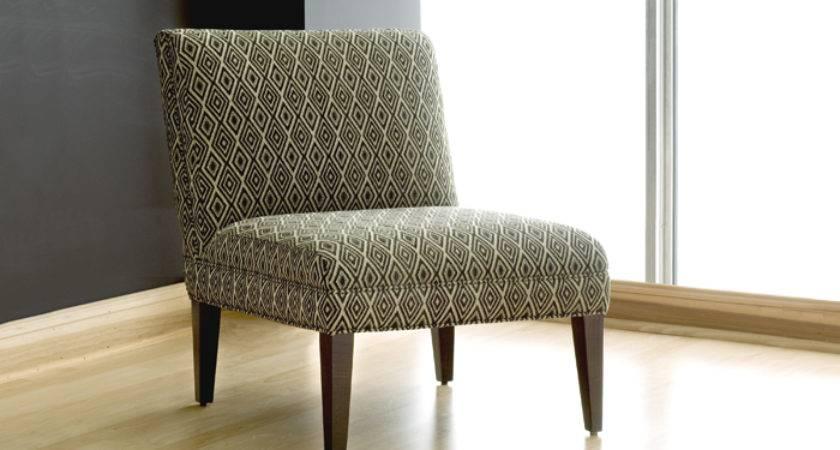 Elle Small Modern Armless Chair