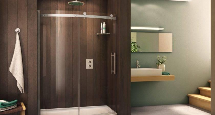 End Curved Glass Shower Enclosure Bathtub Conversion