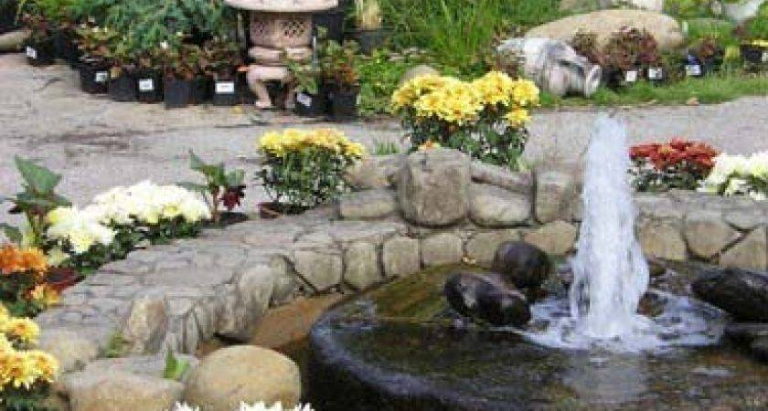Exterior Classy Front Yard Fountain Extravagant House