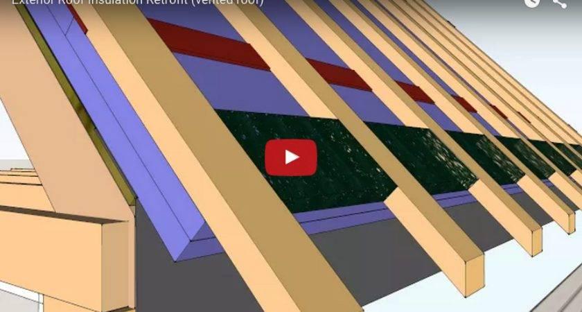 Exterior Roof Insulation Retrofit Vented