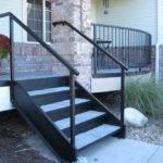 Exterior Steel Spiral Stairs Concrete Wood Paver Tile Treads