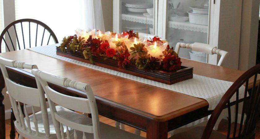 Fabulous Kitchen Table Centerpieces Presented Bright Color