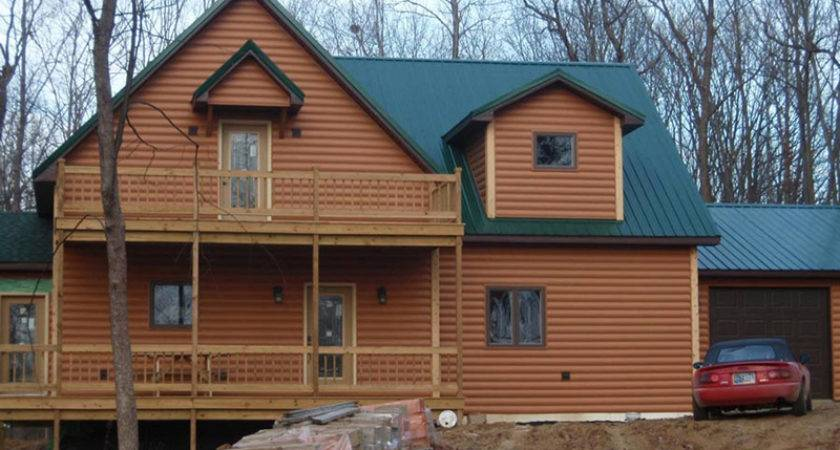 Fake Log Siding Spruces Your Home Need Real