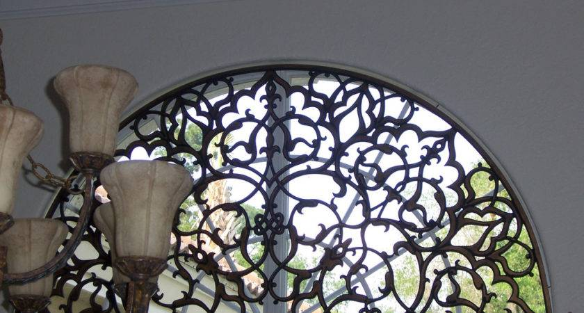 Faux Wrought Iron Transom Arched Window Insert Flickr