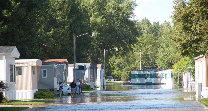 Fema Ames Iowa Mobile Homes Under Water