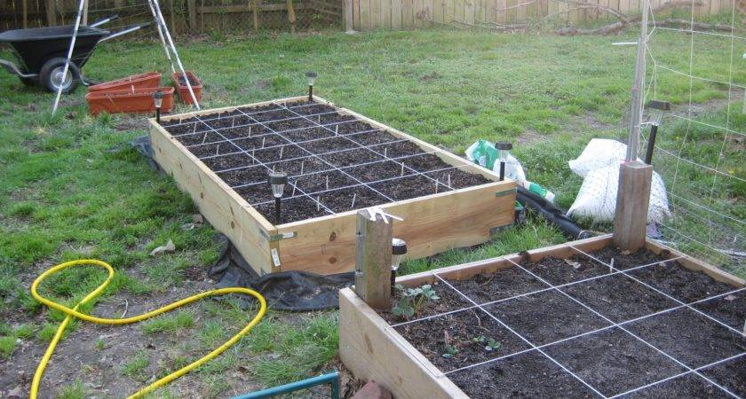 Finished Square Foot Addition Garden