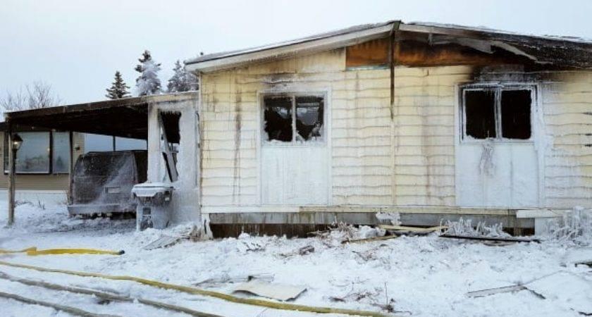 Fire Engulfs Mobile Home Calgary Northwest Cbc News