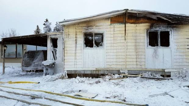 Fire Engulfs Mobile Home Calgary Northwest Cbc News