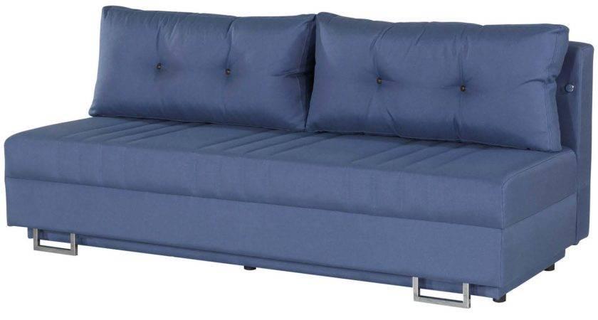 Flex Motion Blue Queen Sofa Bed Storage Casamode