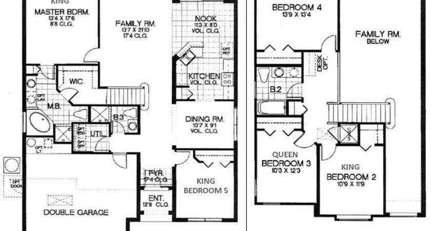 Floor Design Bedroom Townhouse Plans