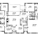 Floor Plan Bedrooms Single Story Five Bedroom Tudor House Plans