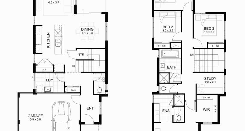 Floor Plans Basement Modern Two Bedroom House