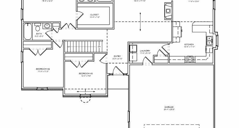 Floor Plans Bedroom House Three Two Bath