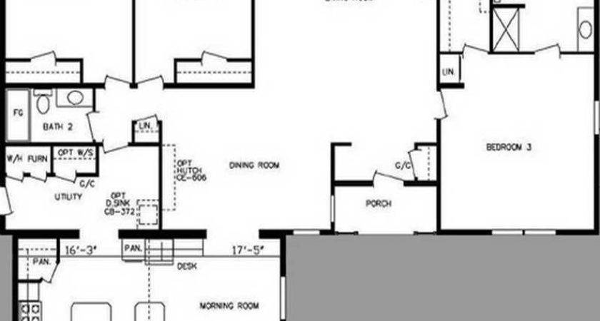 Floor Plans Side Double Wide Mobile Home Single