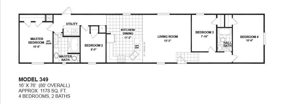 Floor Plans Single Wide Manufactured Homes Oak Creek