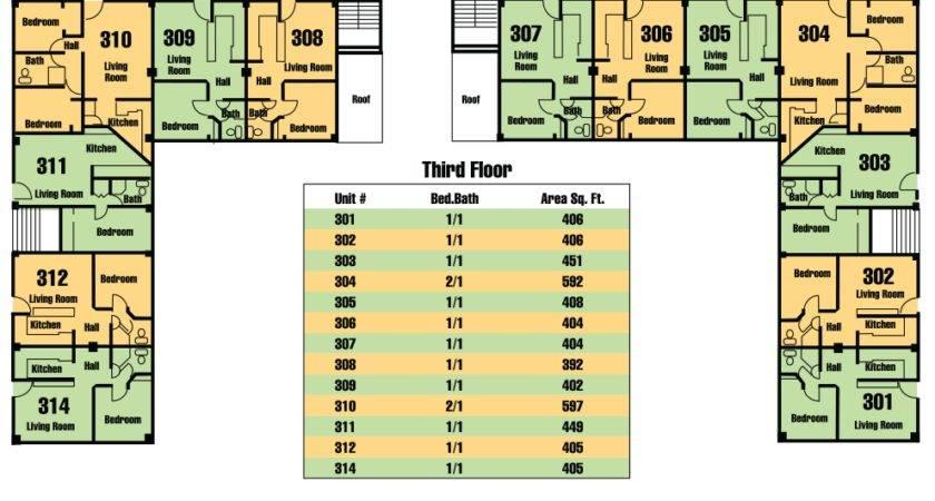 Floor Plans Studio One Bedroom Two Condominiums