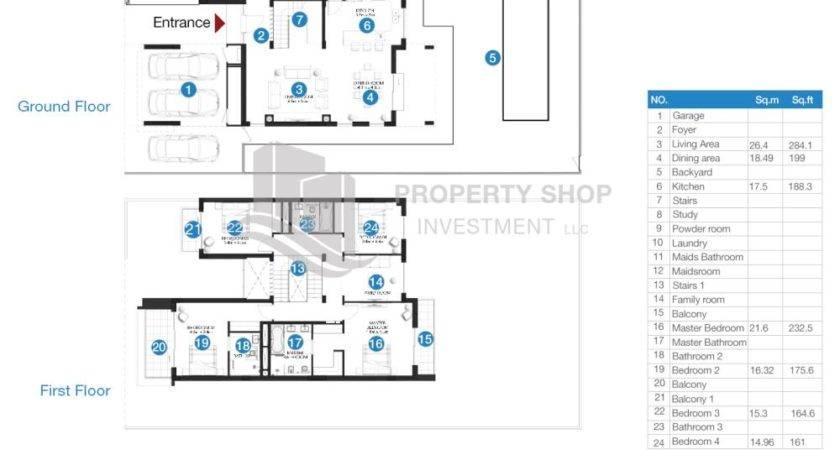 Floor Plates Key Plans Bedroom Townhouse Sale Yas Acres