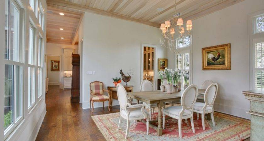 Formal Dining Room Features Architectural Ceilings Charming