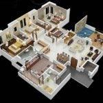 Four Bedroom Apartment House Plans Architecture