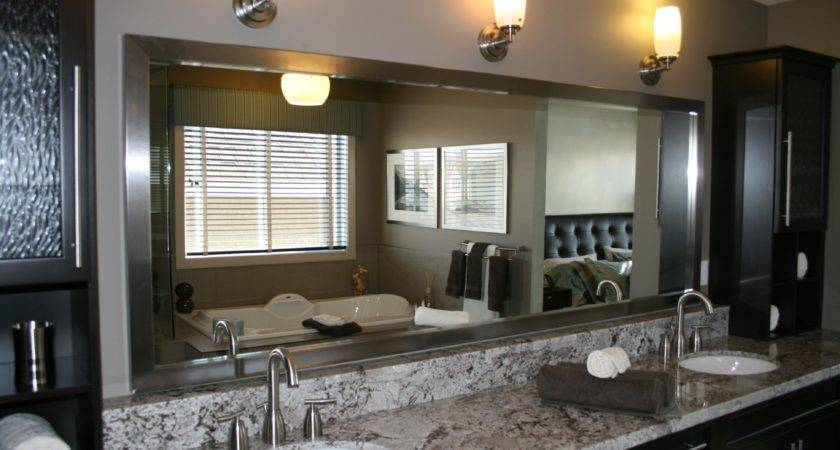 Framed Bathroom Mirror Large Wall Stainless