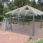 Garden Gazebo Basic Frame Rafters Centres Freshly Painted
