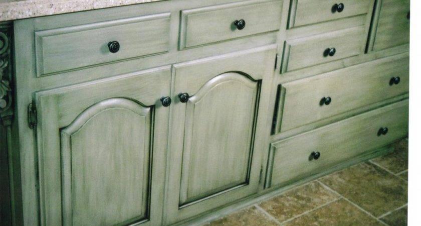 Glazed Cabinets Faux Fum Painting Finishing