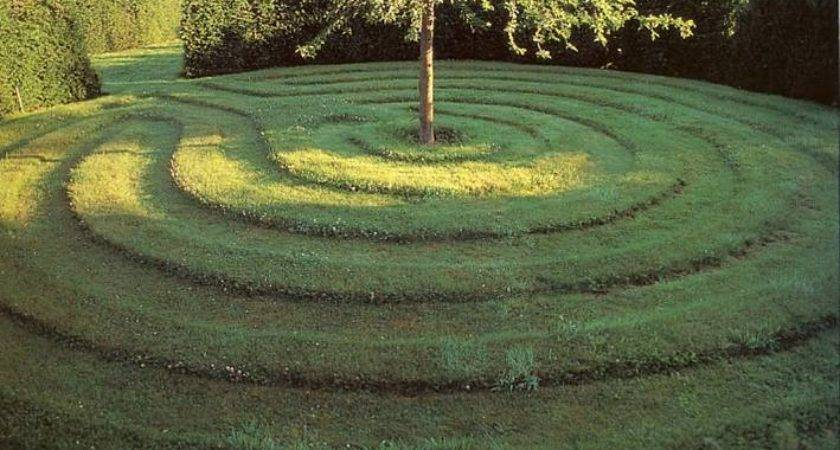 Grass Mown Different Heights Create Patterns