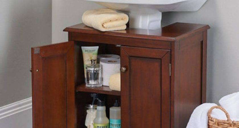 Great Bathroom Pedestal Sink Storage Cabinet