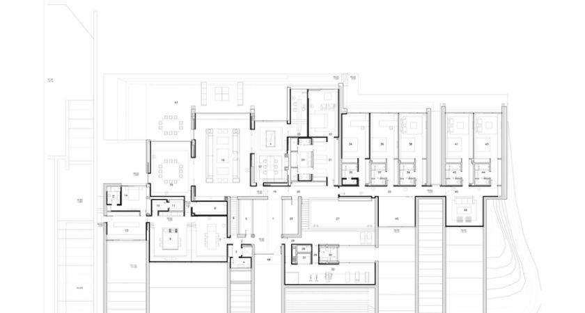 Ground Floor Plan Ultra Modern Concrete House Cero Architects