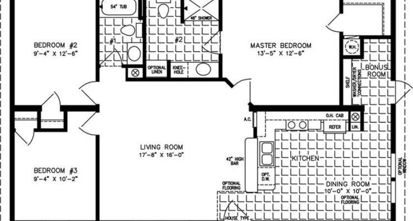 Guest House Plans Under Tnr Manufactured Home Floor