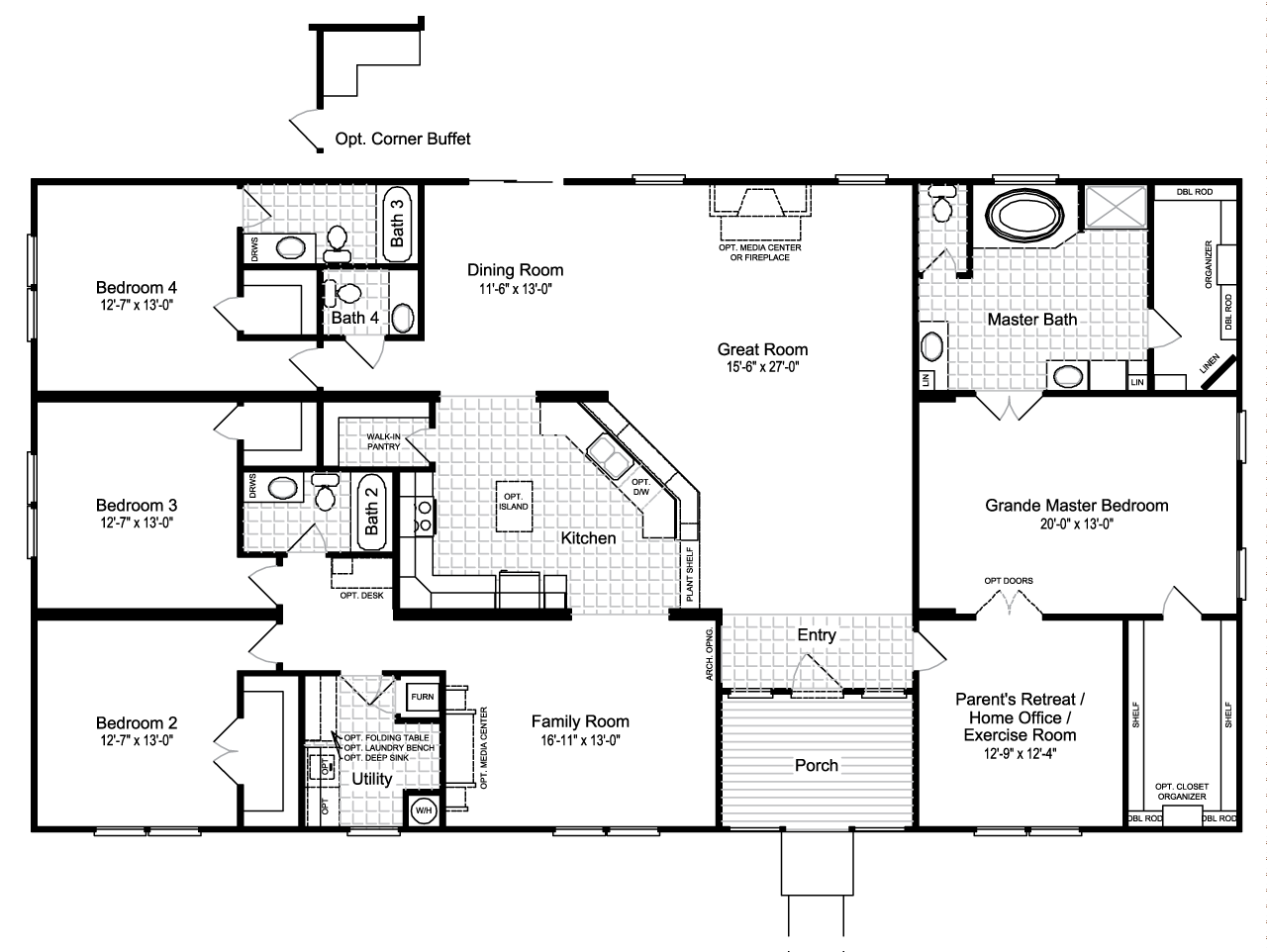 Hacienda Iii Manufactured Home Floor Plan