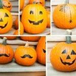 Halloween Pumpkin Stickers Decals Carve Decor