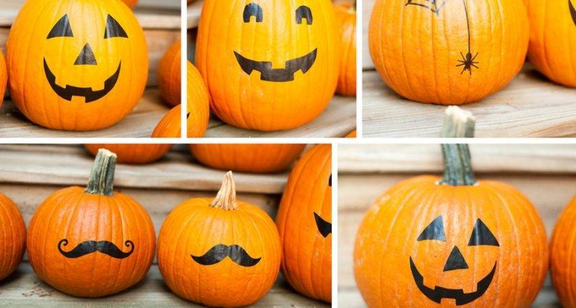 Halloween Pumpkin Stickers Decals Carve Decor