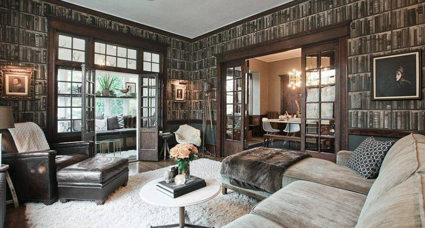 Handsome Living Rooms Dashing Masculine Vibe