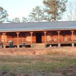 Hardy Before Double Wide Log Home Steel Rooftop Decor Erins Creative