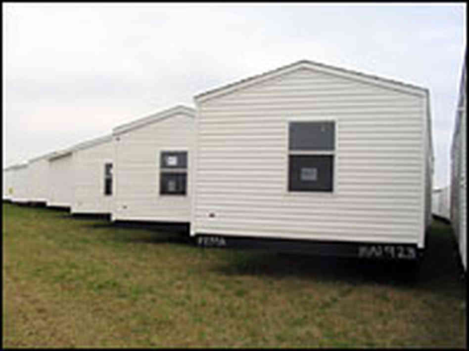 Hide Caption Fema Mobile Homes Stockpiled Airport Hope Ark
