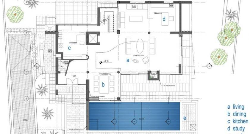 Home Design Contemporary Floor Layout Plan Outdoor Lights