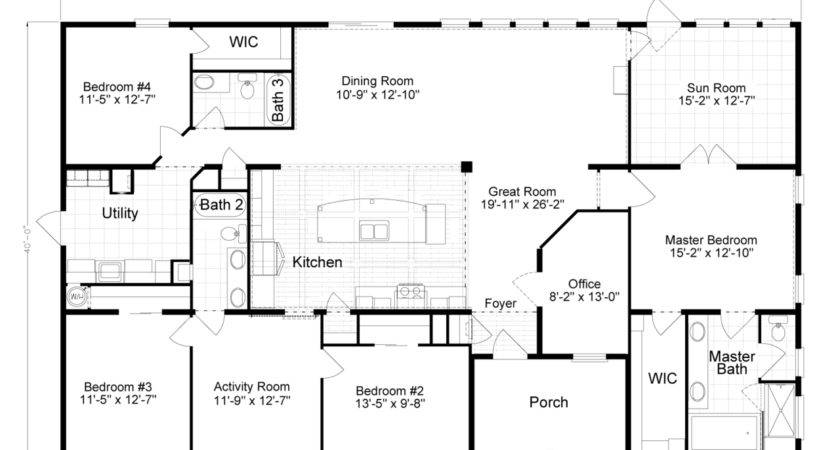 Home Floor Plan Manufactured Modular Plans Available
