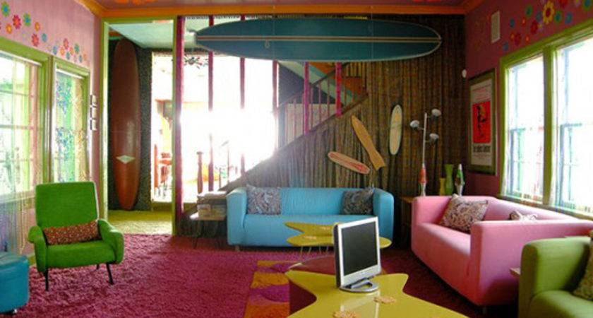 Home Houses Cheerful Beach House Bright Color Save